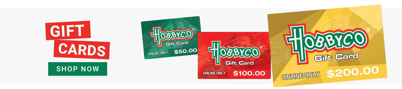 Shop Online Hobby Gift Cards Australia